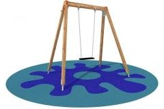Altalena per parco giochi Alexia ad un posto, sedile piano