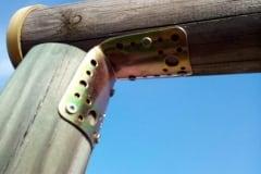 Piastra di supporto per le traverse di staccionate