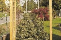 Arco per rampicanti in legno, passante GAMMA con due fioriere, disponibili due misure