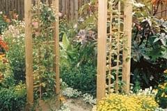 Arco per rampicanti in legno, passante BETA
