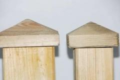 Terminale per pali in legno quadrati modello diamante