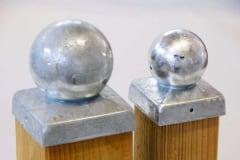 Terminale protezione zincato quadri con sfera