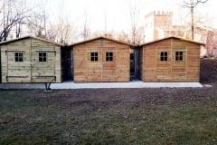 Casette in legno a doppia porta