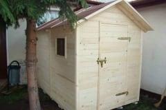 Casetta porta attrezzi in legno da giardino senza impregnamento