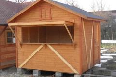 Chiosco in legno Verniciato