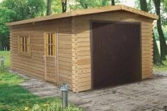Garage in legno con porta basculante