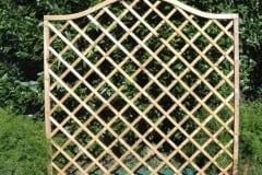Pannello ROMBO 1 OMEGA con riempimento a listelli diagonali incrociati
