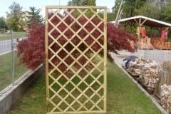 Pannello grigliato con riempimento a listelli diagonali, maglia romboidale ROMBO 1
