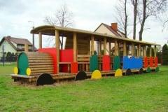 Trenino in legno Topolino installato