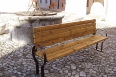 Panchina in legno Globo, lunghezza cm 210