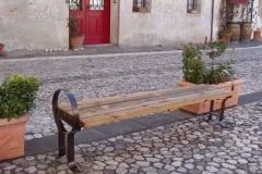 Panchina in legno Globo senza schienale