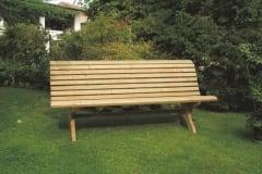 Panchina Martino in legno impregnato, modello ergonomico