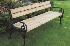 Panchina da giardino Relax con supporti in ghisa