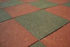 Pavimento antitrauma bicolore