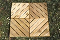Pavimento in legno Quadrotte a listelli diagonali