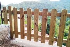 Recinzione in legno su misura