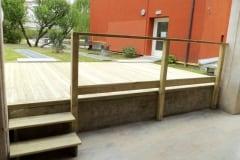 Terrazzamento con semilavorati in legno