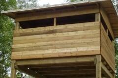 Torretta in legno per Bird Watching