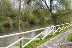 Barriera in legno a Sacile