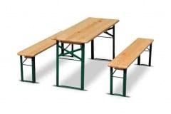 Set BIRRERIA: tavolo e due panche in legno