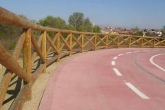 Padova: recinto in legno mod. Livenza su pista ciclabile