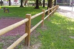 Parco pubblico di Valvasone: recinto in legno mod. Meduna