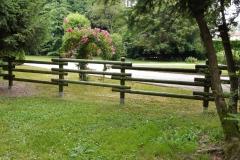 Giardino privato a Limena (PD): staccionata mod. Carinzia