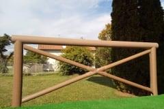 Staccionata  in PVC rigenerato mod. Croce Sant' Andrea