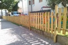 Steccato in legno modello stondato
