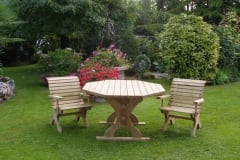 Tavolo a panche in legno GIORGIO
