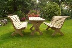 Tavolo e panche in legno MARTINO