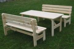 Tavolo e panche in legno VIKING