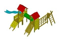 Torrette in legno modello villaggio scooby tunnel sartia