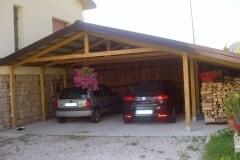 Carport in legno massello