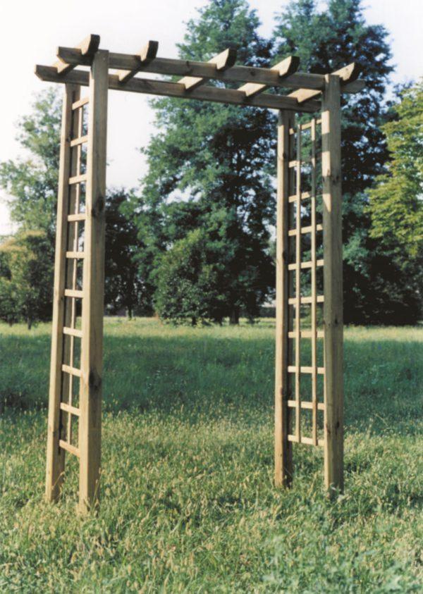 Arco passante in legno per piante rampicanti