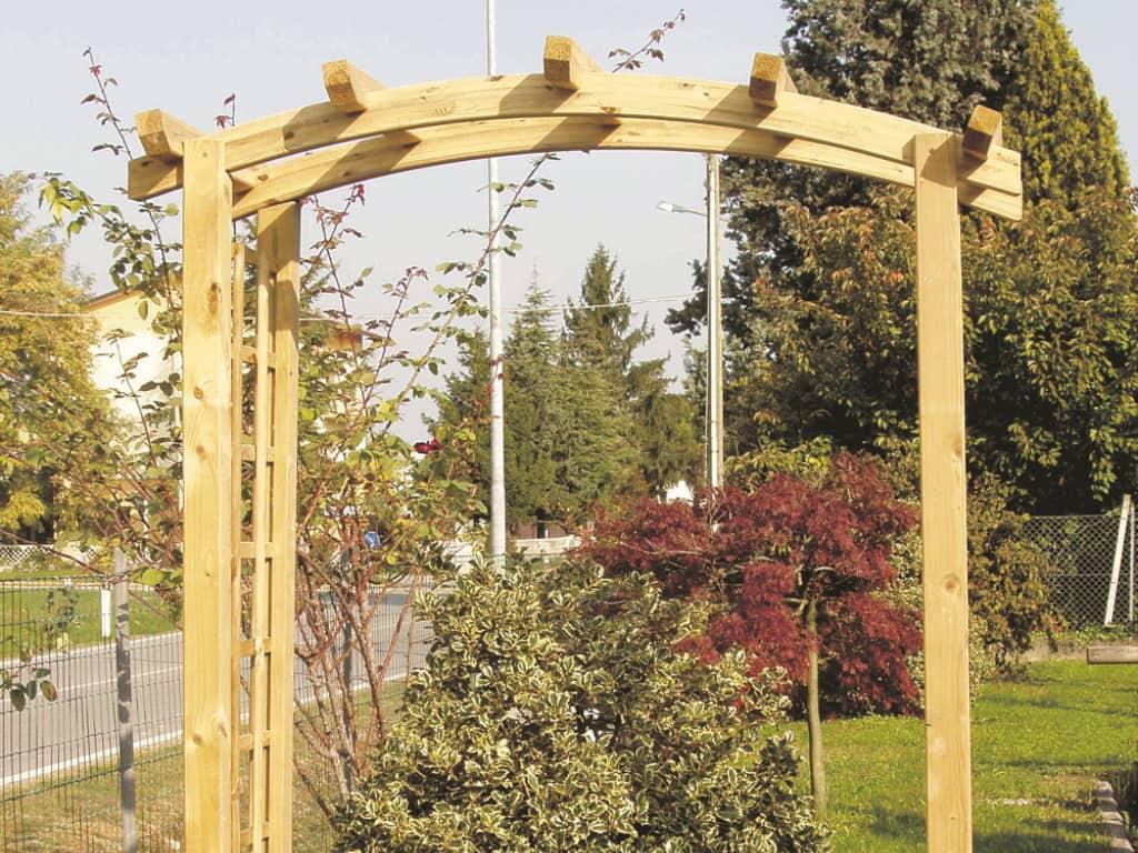 Arco per rampicanti in legno