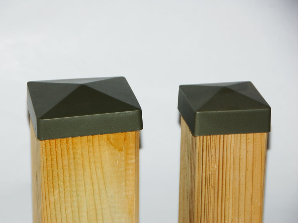 Cappucci per pali in legno