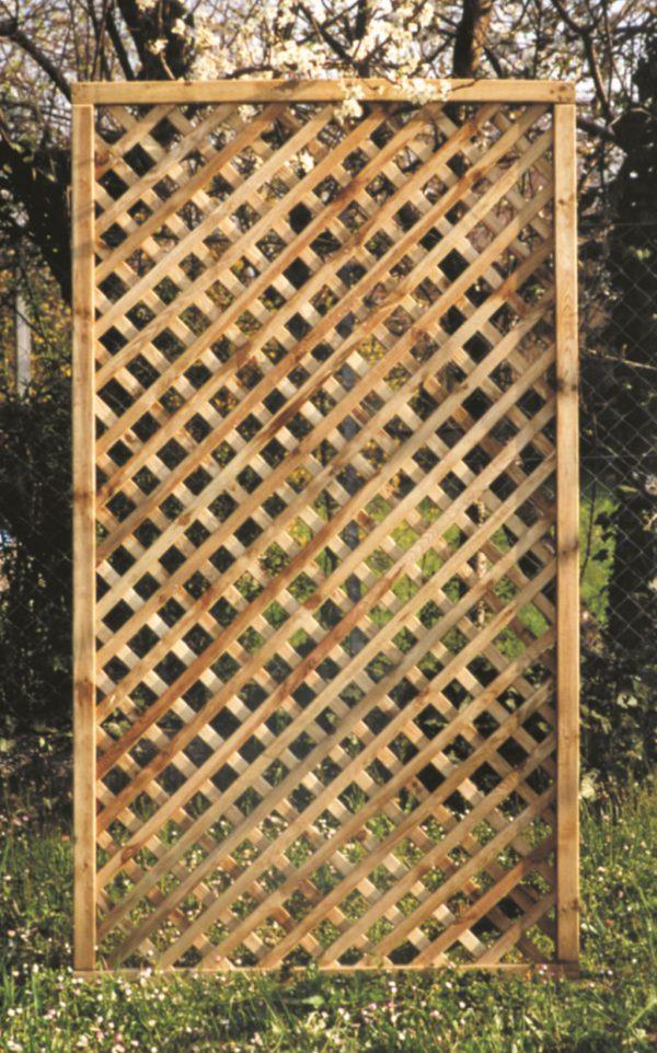 Grigliato in legno a maglia stretta