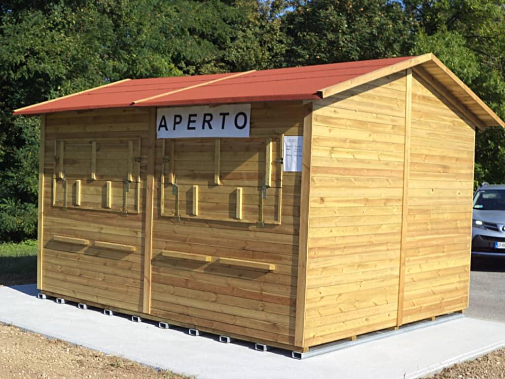 Installazione strutture in legno