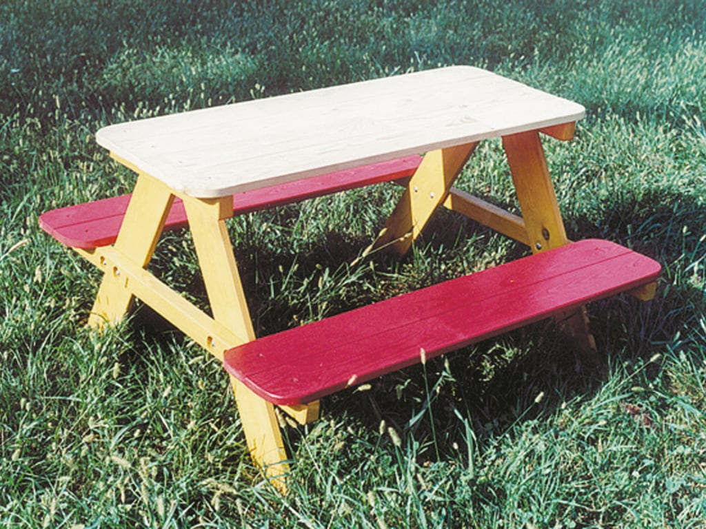 Tavolo picnic in legno per bambini
